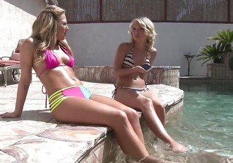 Hot lesbians on outdoors