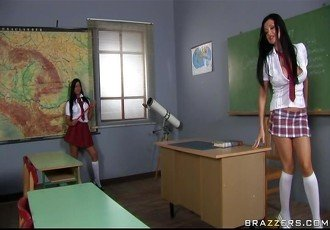 Two hot, horny  angry schoolgirls