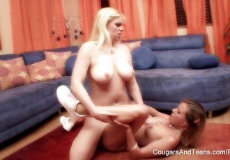 Sensual lesbian sex between two